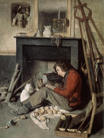 Studio Interior, 1845-Octave Tassaert-Premium Giclee Print