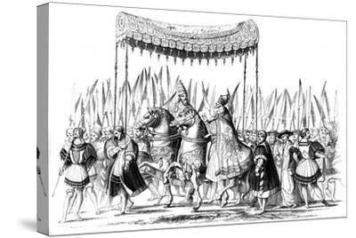 Imperial Procession, 1529-1530-Lucas Cranach the Elder-Stretched Canvas Print