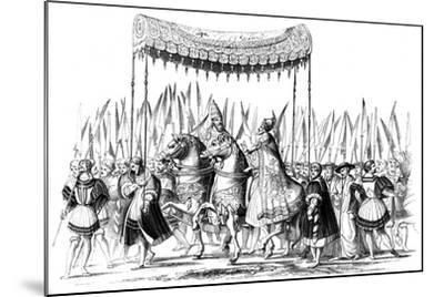 Imperial Procession, 1529-1530-Lucas Cranach the Elder-Mounted Giclee Print