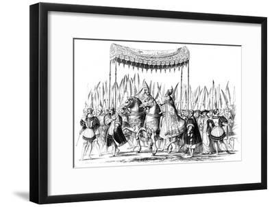 Imperial Procession, 1529-1530-Lucas Cranach the Elder-Framed Giclee Print