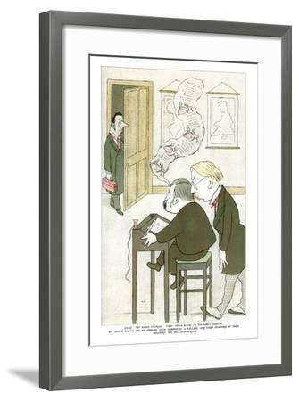 Mr Austin Dobson and Mr Edmund Gosse Composing a Ballade, 1904-Max Beerbohm-Framed Giclee Print