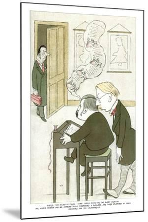 Mr Austin Dobson and Mr Edmund Gosse Composing a Ballade, 1904-Max Beerbohm-Mounted Giclee Print