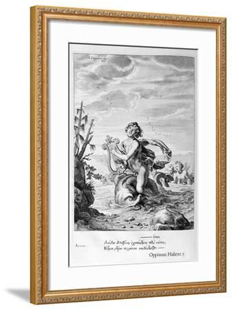 Arion Saved by a Dolphin, 1655-Michel de Marolles-Framed Giclee Print