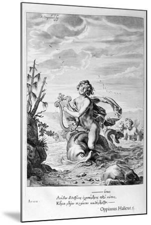 Arion Saved by a Dolphin, 1655-Michel de Marolles-Mounted Giclee Print