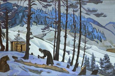 Saint Sergius the Builder, 1925-Nicholas Roerich-Framed Giclee Print