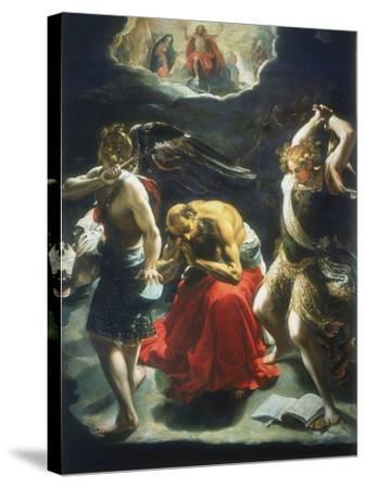 St Jerome's Dream, C1600-Orazio Borgianni-Stretched Canvas Print