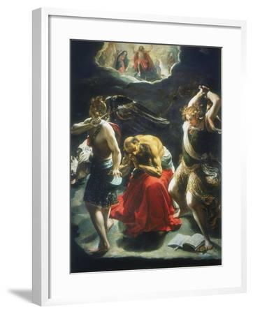 St Jerome's Dream, C1600-Orazio Borgianni-Framed Giclee Print