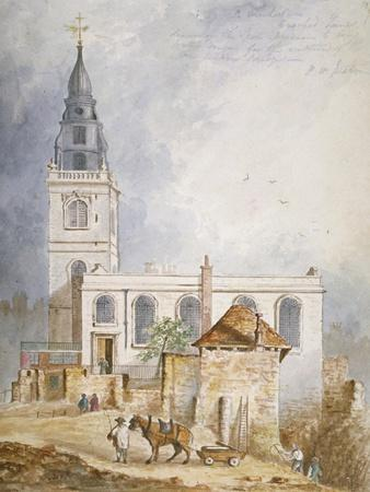 View of the Church of St Michael, Crooked Lane, City of London, 1831-Percy William Justyne-Framed Giclee Print