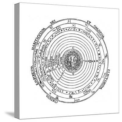 Diagram Showing Geocentric System of Universe, 1539-Petrus Apianus-Stretched Canvas Print