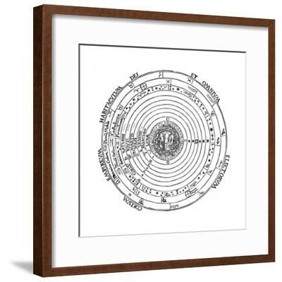 Diagram Showing Geocentric System of Universe, 1539-Petrus Apianus-Framed Giclee Print