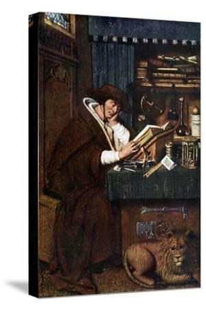 St Jerome, 15th Century-Petrus Christus-Stretched Canvas Print