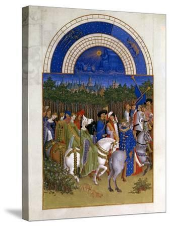 May, 1412-1416-Paul Limbourg-Stretched Canvas Print