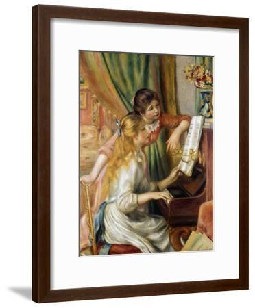 Young Girls at the Piano, 1892-Pierre-Auguste Renoir-Framed Giclee Print