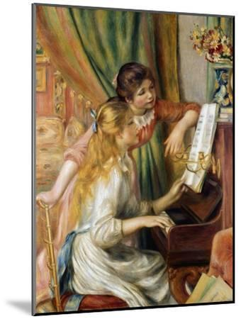 Young Girls at the Piano, 1892-Pierre-Auguste Renoir-Mounted Giclee Print