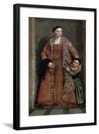 Portrait of Countess Livia Da Porto Thiene and Her Daughter, C1551-Paolo Veronese-Framed Giclee Print