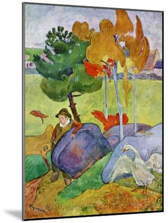 Little Breton Boy with a Goose, 1889-Paul Gauguin-Mounted Giclee Print