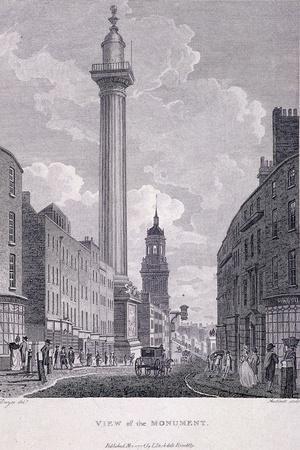 Monument, London, 1796-Philip Audinet-Framed Giclee Print