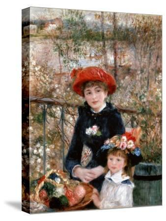 Two Sisters (On the Terrac), 1881-Pierre-Auguste Renoir-Stretched Canvas Print