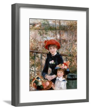 Two Sisters (On the Terrac), 1881-Pierre-Auguste Renoir-Framed Premium Giclee Print