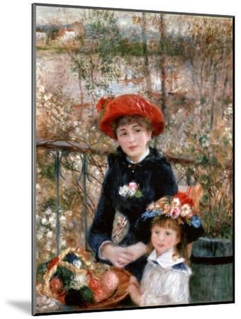Two Sisters (On the Terrac), 1881-Pierre-Auguste Renoir-Mounted Giclee Print