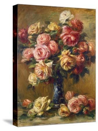Roses in a Vase, C1910-Pierre-Auguste Renoir-Stretched Canvas Print