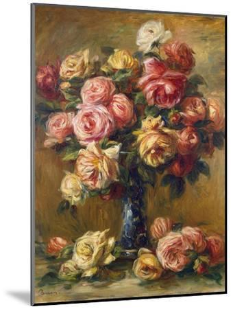 Roses in a Vase, C1910-Pierre-Auguste Renoir-Mounted Premium Giclee Print