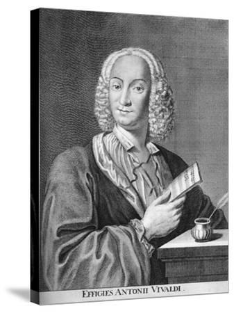 Antonio Vivaldi, Italian Baroque Composer, Catholic Priest, and Virtuoso Violinist, 1725-Peter La Cave-Stretched Canvas Print