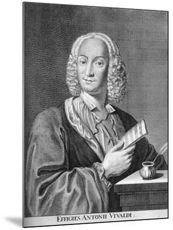 Antonio Vivaldi, Italian Baroque Composer, Catholic Priest, and Virtuoso Violinist, 1725-Peter La Cave-Mounted Giclee Print