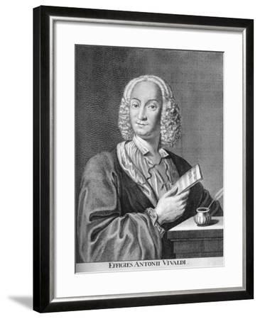 Antonio Vivaldi, Italian Baroque Composer, Catholic Priest, and Virtuoso Violinist, 1725-Peter La Cave-Framed Giclee Print