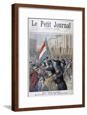 Demonstration Against Joseph Chamberlain, Ireland, 1899-Oswaldo Tofani-Framed Giclee Print
