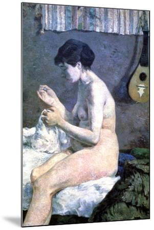 Study of a Nude, 1880-Paul Gauguin-Mounted Giclee Print