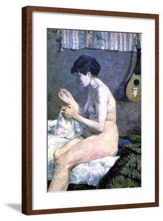 Study of a Nude, 1880-Paul Gauguin-Framed Giclee Print