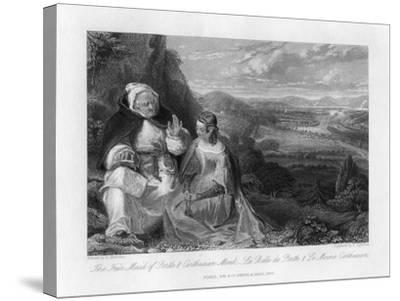 The Fair Maid of Perth and Carthusian Monk, 1845-Peter Lightfoot-Stretched Canvas Print