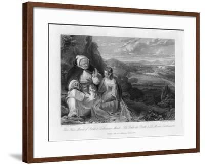 The Fair Maid of Perth and Carthusian Monk, 1845-Peter Lightfoot-Framed Giclee Print