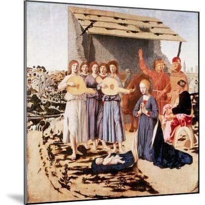 The Nativity, 1470-1475-Piero della Francesca-Mounted Giclee Print