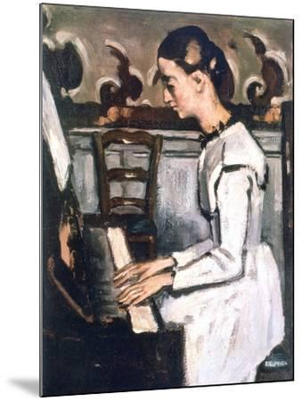 Girl at the Piano, the Overture to Tannhauser, Detail, 1868-Paul C?zanne-Mounted Giclee Print