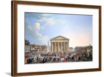 Ceremony at the New Church of St Genevieve, 1765-Pierre Antoine De Machy-Framed Giclee Print