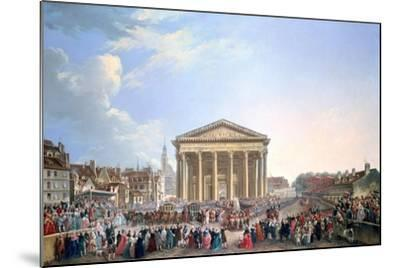 Ceremony at the New Church of St Genevieve, 1765-Pierre Antoine De Machy-Mounted Giclee Print