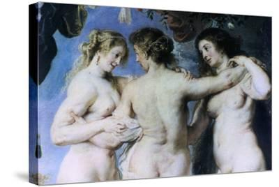 The Three Graces, (Detail), C1636-1638-Peter Paul Rubens-Stretched Canvas Print