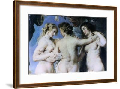 The Three Graces, (Detail), C1636-1638-Peter Paul Rubens-Framed Giclee Print
