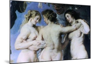 The Three Graces, (Detail), C1636-1638-Peter Paul Rubens-Mounted Giclee Print