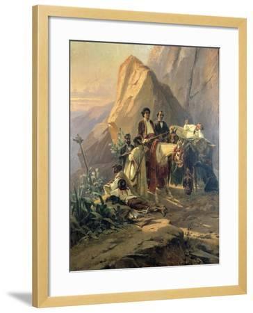 Memories of the Trip from Paris to Cadiz - Alexandre Dumas (Per) in Spain, 1830-Pierre Francois Eugene Giraud-Framed Giclee Print