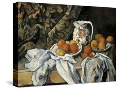 Still Life with Drapery, C1895-Paul C?zanne-Stretched Canvas Print
