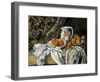 Still Life with Drapery, C1895-Paul C?zanne-Framed Giclee Print
