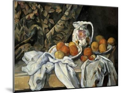 Still Life with Drapery, C1895-Paul C?zanne-Mounted Giclee Print