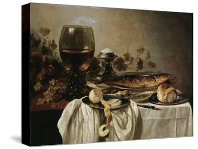 Breakfast, 1646-Pieter Claesz-Stretched Canvas Print