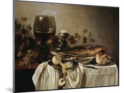 Breakfast, 1646-Pieter Claesz-Mounted Giclee Print