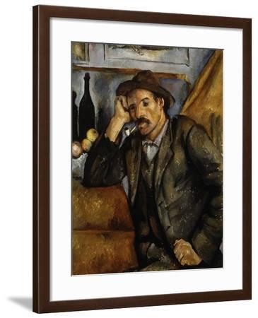 A Smoker, 1890-1892-Paul C?zanne-Framed Giclee Print
