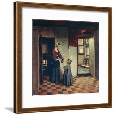 Woman with a Child in a Pantry, C1660-Pieter de Hooch-Framed Giclee Print