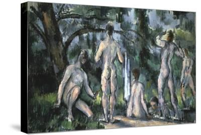 Study of Bathers, 1890-Paul C?zanne-Stretched Canvas Print